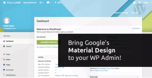 MATERIAL WP MATERIAL DESIGN DASHBOARD THEME v1.0.6