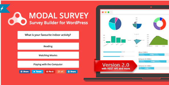 MODAL SURVEY WORDPRESS POLL SURVEY QUIZ PLUGIN v2.0.1.3