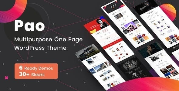 PAO - Landing WordPress Theme
