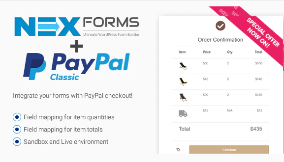 PAYPAL FOR NEX-FORMS v7.5.12.1