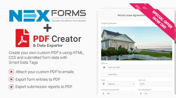 PDF CREATOR FOR NEX FORMS