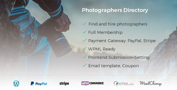 PHOTOGRAPHER DIRECTORY WORDPRESS PLUGIN v1.1.0
