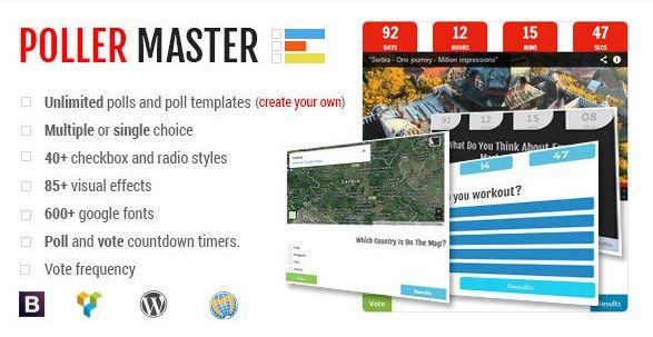 POLLER MASTER – ULTIMATE WP POLLING SYSTEM v1.3
