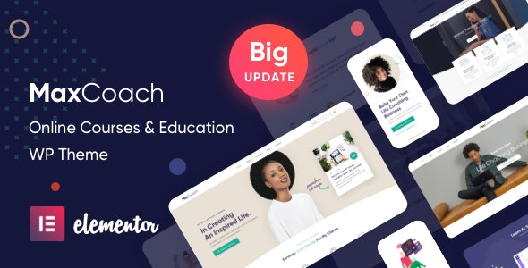 MaxCoach Online Courses & Education Elementor WP Theme Free Download
