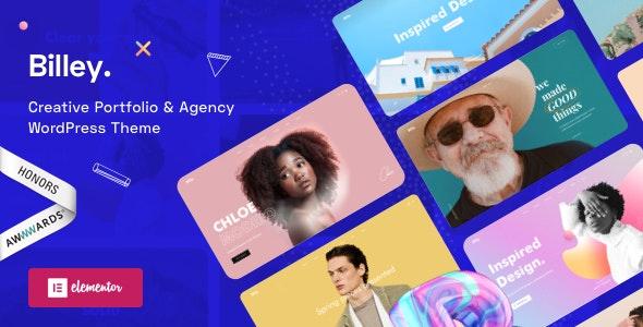 Creative Portfolio & Agency WordPress Theme - Billey