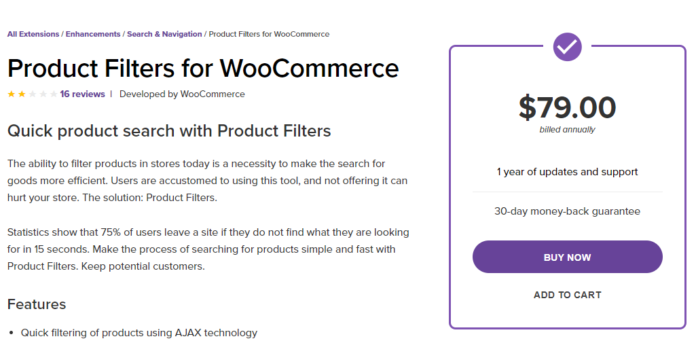 Product Filters for WooCommerce free download Developerszone
