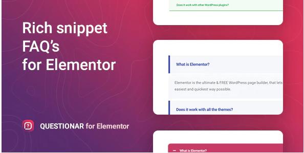QUESTIONAR FAQ ACCORDIONS FOR ELEMENTOR v1.0.0