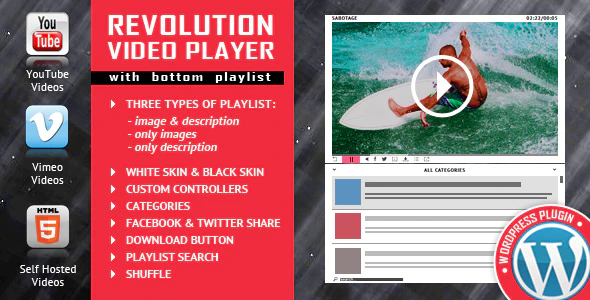 REVOLUTION VIDEO PLAYER WITH BOTTOM PLAYLIST v1.9