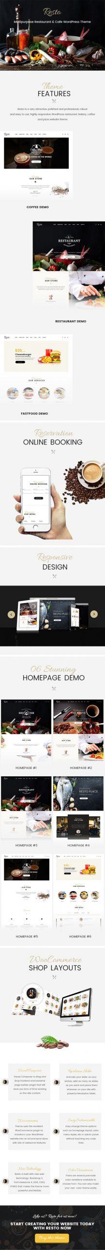 Resto - Multipurpose Restaurant & Cafe WordPress Theme
