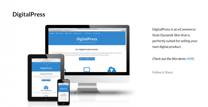 COBALTAPPS DIGITALPRESS SKIN WEBSITE BUILDER