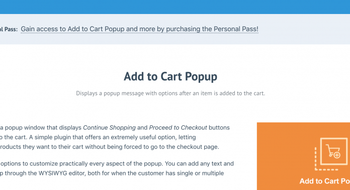ADD TO CART POPUP ADDON