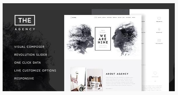 The Agency Creative One Page Agency Theme