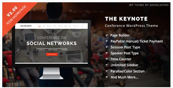 The Keynote Conference Event WordPress v 1.0