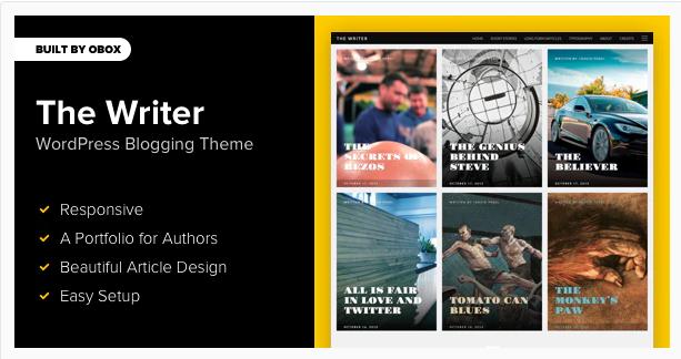 The Writer WordPress Blogging Theme