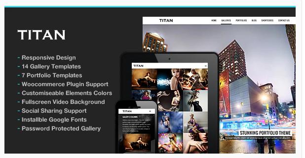 Titan Photography Wordpress Theme