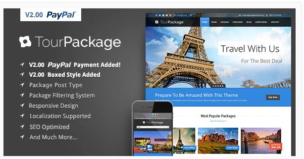 TravelTour Wordpress Theme