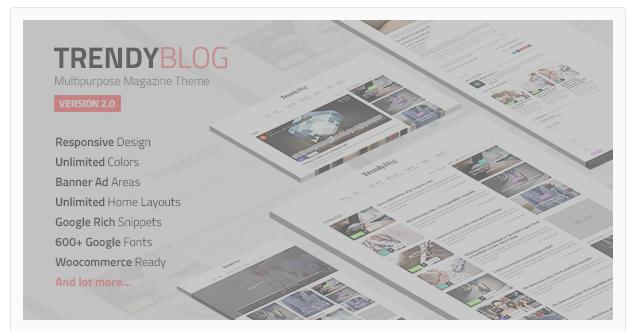 TrendyBlog Multipurpose Magazine Theme v 1.1