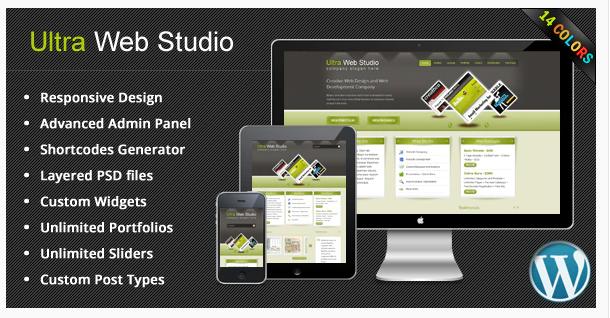 Ultra Web Studio Blog & Portfolio Wordpress Theme v2.16