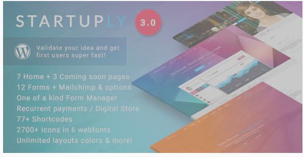 Startuply MultiPurpose Startup Theme