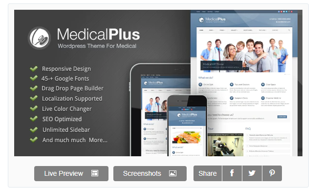 Medical Plus Doctor Health WordPress Theme