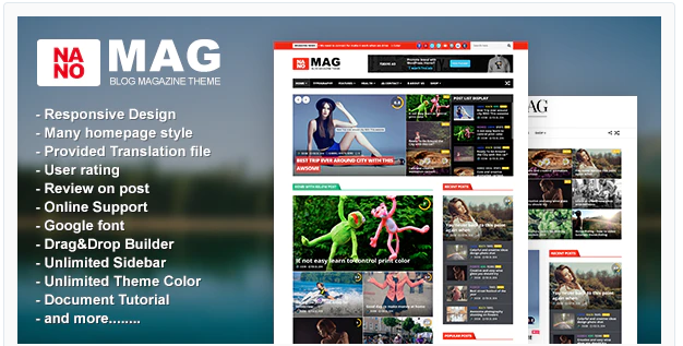 NANOMAG RESPONSIVE WORDPRESS MAGAZINE THEME v 1.7