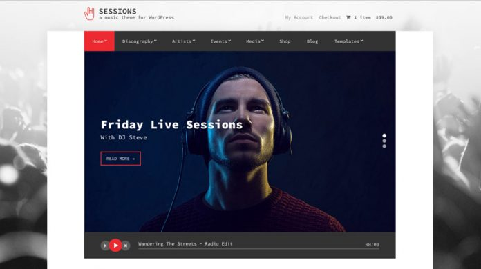 Sessions Wordpress Theme Free Download