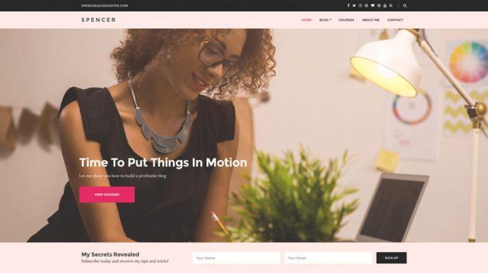 Spencer Wordpress Theme Free Download