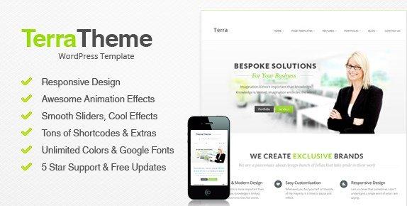 Terra RTerra Responsive MultiPurpose WordPress Template Businessesponsive MultiPurpose WordPress Templete Business v 1.0
