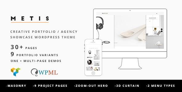 Metis Portfolio Wordpress Theme