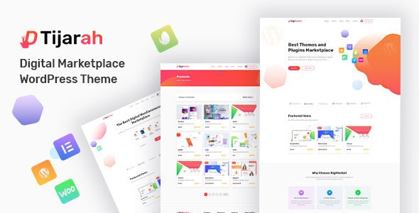 Tijarah Digital Goods Store Wordpress Theme