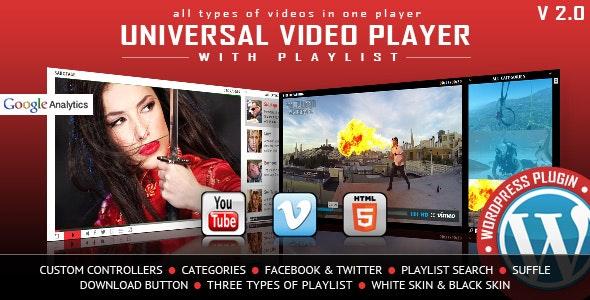 UNIVERSAL VIDEO PLAYER WORDPRESS PLUGIN