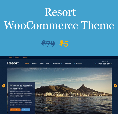 WOOTHEMES RESORT WOOCOMMERCE THEMES