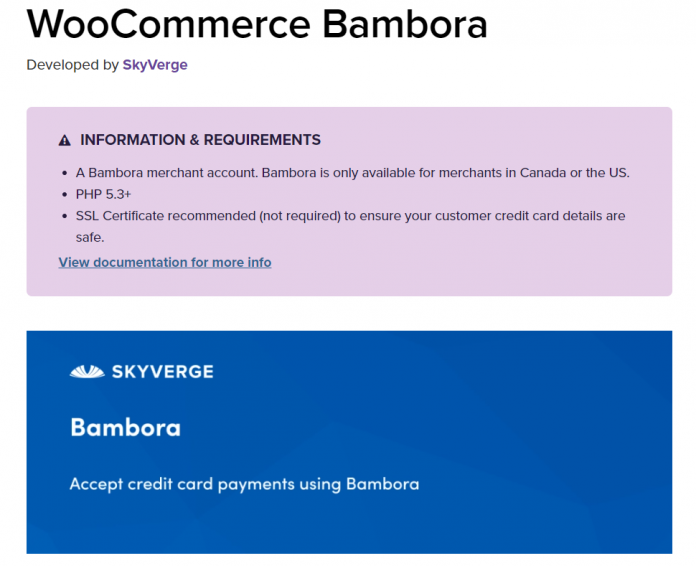 WooCommerce Beanstream Payment Gateway