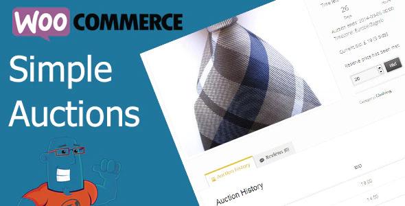 WooCommerce Auctions WordPress plugin