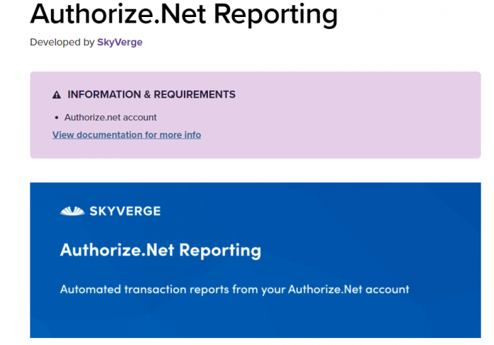 Woocommerce Authorize.Net Reporting 1.10.3