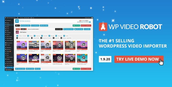 WordPress Video Robot - The Ultimate Video Importer v1.9.19.1 Free Download