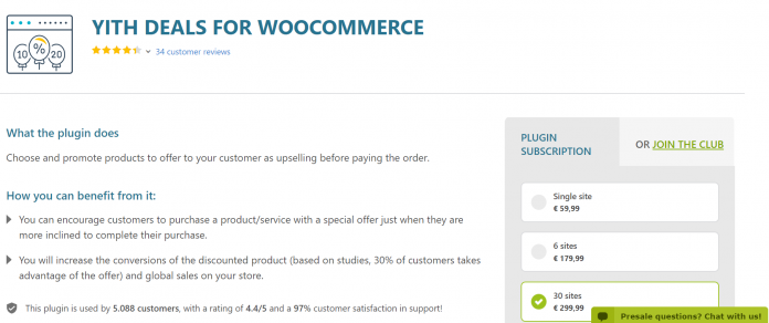 YITH Deals for WooCommerce Premium Version