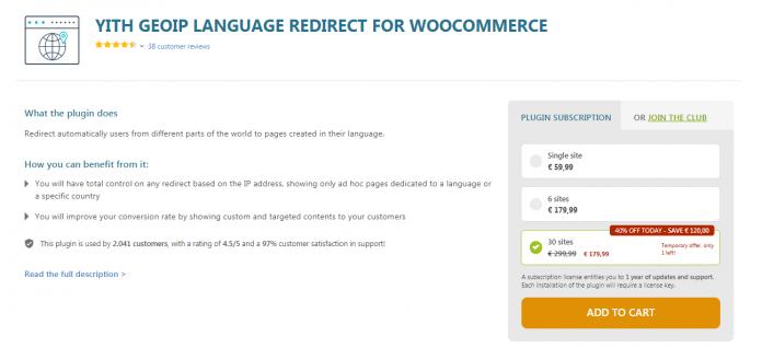 Yith Woocommerce GeoIP Language Redirect Premium