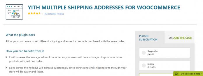 YITH Multiple Shipping Addresses WooCommerce