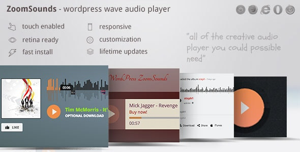 ZoomSounds - WordPress Wave Audio Player with Playlist v5.73 Free Download