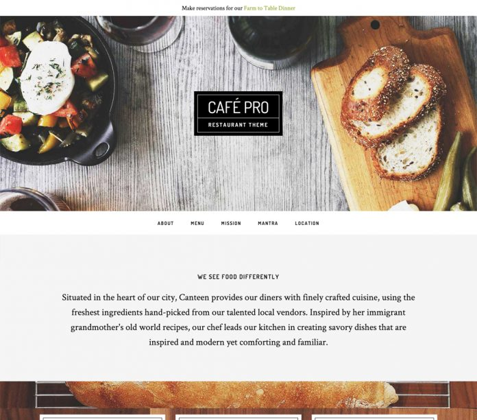 CAFE PRO THEME 1.0.5 FREE DOWNLOAD