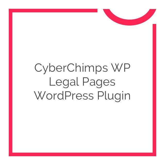 CyberChimps WP Legal Pages WordPress Plugin 4.13