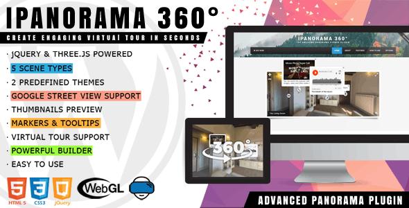 iPanorama 360° - Virtual Tour Builder for WordPress V1.5.21 Free Download