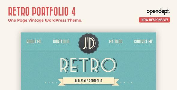 RETRO PORTFOLIO – ONE PAGE VINTAGE WORDPRESS THEME 4.9.2