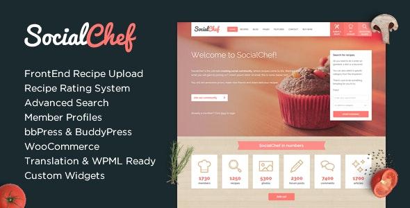 Socialcheaf Social Recipee Wordpress Theme