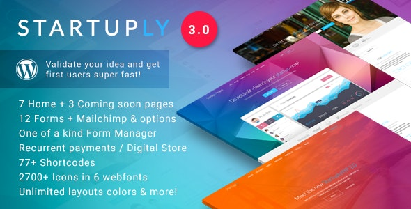 STARTUPLY – MULTI-PURPOSE STARTUP THEME 3.1 Free Download
