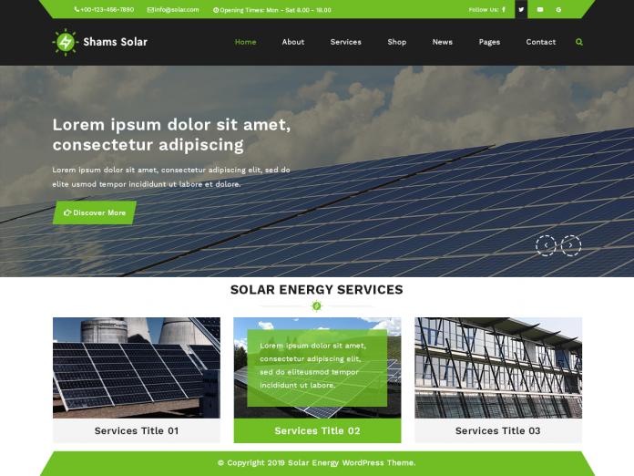 SOLAR WORDPRESS THEME 1.2.3 FREE DOWNLOAD