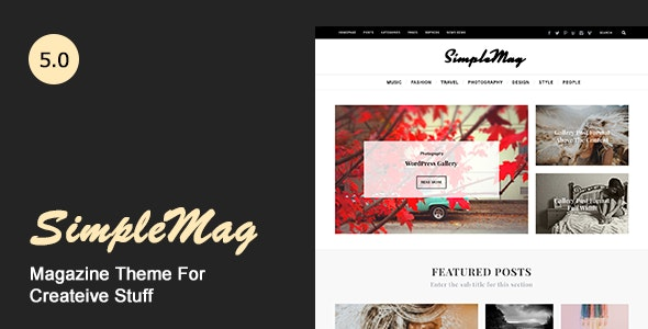 SIMPLEMAG – MAGAZINE THEME FOR CREATIVE STUFF 4.5
