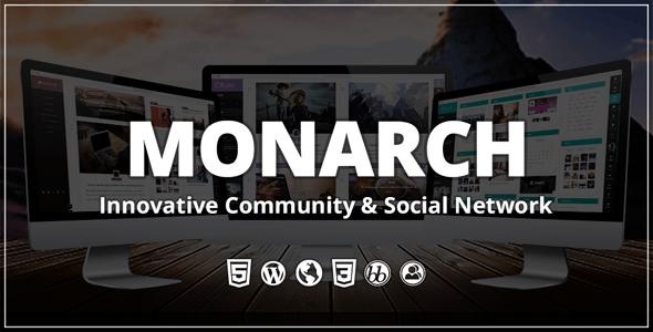MONARCH INNOVATIVE WORDPRESS COMMUNITY THEME v 2.0