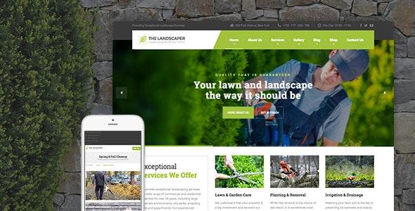 The Landscaper v2.0 WordPress Landscape Design Template v2.0